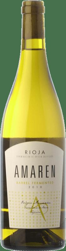 14,95 € Envío gratis | Vino blanco Amaren Fermentado Crianza D.O.Ca. Rioja La Rioja España Viura, Malvasía Botella 75 cl