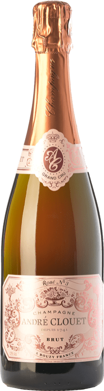 43,95 € Free Shipping | Rosé sparkling André Clouet Rosé Grand Cru Gran Reserva A.O.C. Champagne Champagne France Pinot Black Bottle 75 cl