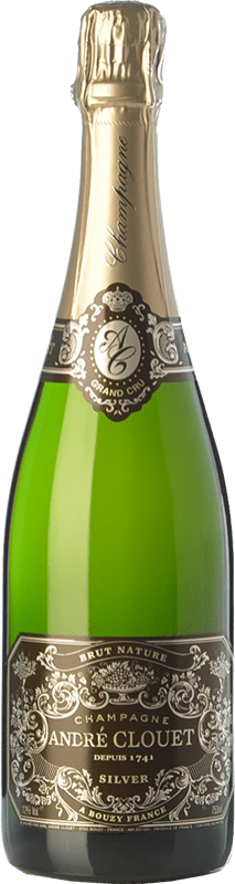 34,95 € Free Shipping | White sparkling André Clouet Silver Brut Nature A.O.C. Champagne Champagne France Pinot Black Bottle 75 cl