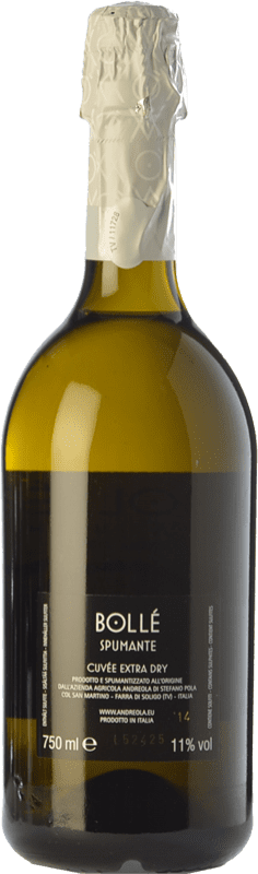9,95 € Free Shipping | White sparkling Andreola Bollé Extra Dry D.O.C. Prosecco Veneto Italy Glera Bottle 75 cl | Thousands of wine lovers trust us to get the best price guarantee, free shipping always and hassle-free shopping and returns.