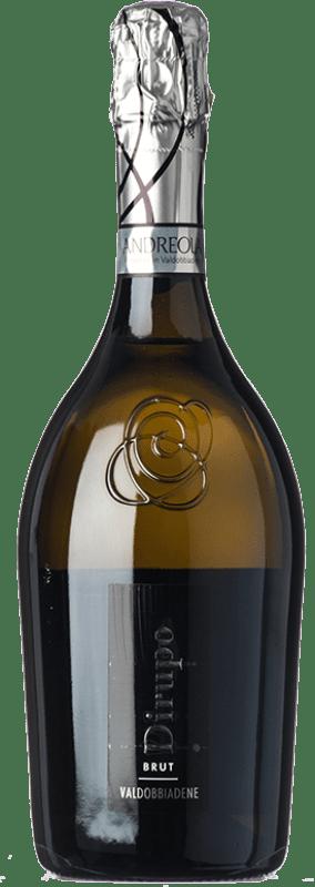 13,95 € Free Shipping | White sparkling Andreola Dirupo Brut D.O.C.G. Prosecco di Conegliano-Valdobbiadene Treviso Italy Glera, Bianchetta, Perera Bottle 75 cl