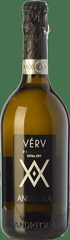 12,95 € Free Shipping | White sparkling Andreola Verv Extra Dry D.O.C. Prosecco Veneto Italy Glera Bottle 75 cl