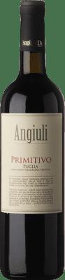 8,95 € Kostenloser Versand | Rotwein Angiuli I.G.T. Puglia Apulien Italien Primitivo Flasche 75 cl