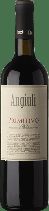 8,95 € Envío gratis | Vino tinto Angiuli I.G.T. Puglia Puglia Italia Primitivo Botella 75 cl