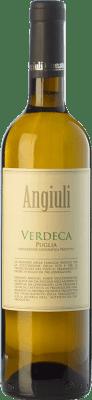 8,95 € Kostenloser Versand | Weißwein Angiuli I.G.T. Puglia Apulien Italien Verdeca Flasche 75 cl
