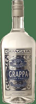 34,95 € Envoi gratuit | Grappa Quaglia Pura Vinaccia I.G.T. Grappa Piemontese Piémont Italie Bouteille Missile 1 L