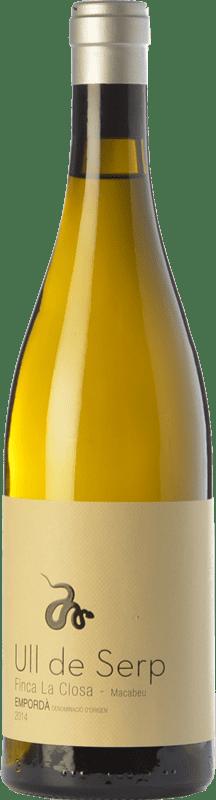 23,95 € Envoi gratuit | Vin blanc Arché Pagés Ull de Serp Macabeu Crianza D.O. Empordà Catalogne Espagne Macabeo Bouteille 75 cl