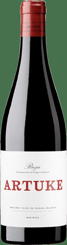 8,95 € Envío gratis | Vino tinto Artuke Joven D.O.Ca. Rioja La Rioja España Tempranillo, Viura Botella 75 cl