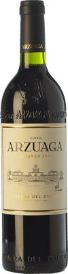 18,95 € Free Shipping | Red wine Arzuaga Crianza D.O. Ribera del Duero Castilla y León Spain Tempranillo, Merlot, Cabernet Sauvignon Bottle 75 cl | Thousands of wine lovers trust us to get the best price guarantee, free shipping always and hassle-free shopping and returns.