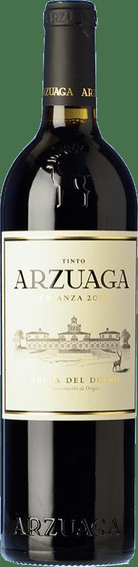 21,95 € Envío gratis | Vino tinto Arzuaga Crianza D.O. Ribera del Duero Castilla y León España Tempranillo, Merlot, Cabernet Sauvignon Botella 75 cl