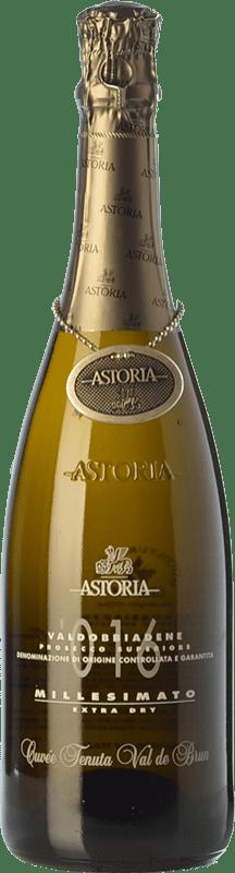 22,95 € Envoi gratuit | Blanc moussant Astoria Millesimato D.O.C.G. Prosecco di Conegliano-Valdobbiadene Trévise Italie Glera Bouteille 75 cl
