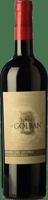 14,95 € Free Shipping | Red wine Atalayas de Golbán Torre de Golbán Crianza D.O. Ribera del Duero Castilla y León Spain Tempranillo Bottle 75 cl
