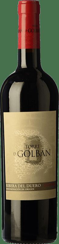 12,95 € Free Shipping | Red wine Atalayas de Golbán Torre de Golbán Crianza D.O. Ribera del Duero Castilla y León Spain Tempranillo Bottle 75 cl