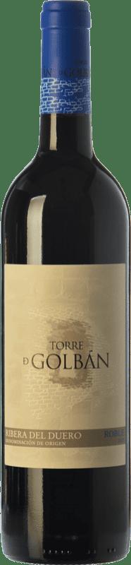 8,95 € Free Shipping | Red wine Atalayas de Golbán Torre de Golbán Roble D.O. Ribera del Duero Castilla y León Spain Tempranillo Bottle 75 cl
