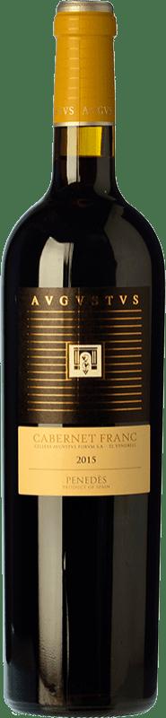 10,95 € Free Shipping | Red wine Augustus Crianza D.O. Penedès Catalonia Spain Cabernet Franc Bottle 75 cl