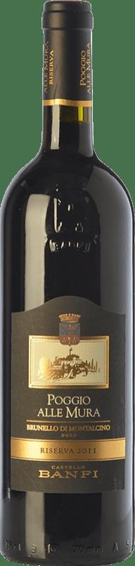 84,95 € Free Shipping | Red wine Castello Banfi Poggio alle Mura Riserva Reserva D.O.C.G. Brunello di Montalcino Tuscany Italy Sangiovese Bottle 75 cl