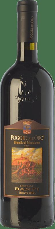 126,95 € Free Shipping | Red wine Castello Banfi Poggio all'Oro Riserva Reserva 2010 D.O.C.G. Brunello di Montalcino Tuscany Italy Sangiovese Bottle 75 cl
