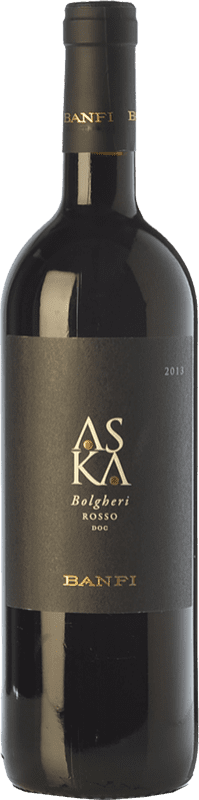 24,95 € Free Shipping | Red wine Castello Banfi Rosso Aska D.O.C. Bolgheri Tuscany Italy Cabernet Sauvignon, Cabernet Franc Bottle 75 cl