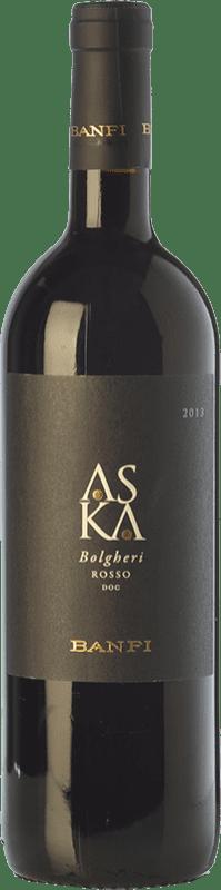 24,95 € Envoi gratuit | Vin rouge Castello Banfi Rosso Aska D.O.C. Bolgheri Toscane Italie Cabernet Sauvignon, Cabernet Franc Bouteille 75 cl