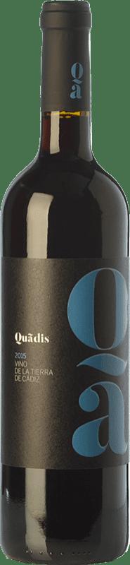 6,95 € Free Shipping | Red wine Barbadillo Quadis Joven I.G.P. Vino de la Tierra de Cádiz Andalusia Spain Tempranillo, Merlot, Syrah, Tintilla de Rota Bottle 75 cl