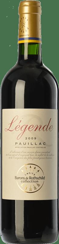 19,95 € Envoi gratuit | Vin rouge Barons de Rothschild Collection Légende Joven A.O.C. Pauillac Bordeaux France Merlot, Cabernet Sauvignon, Cabernet Franc Bouteille 75 cl