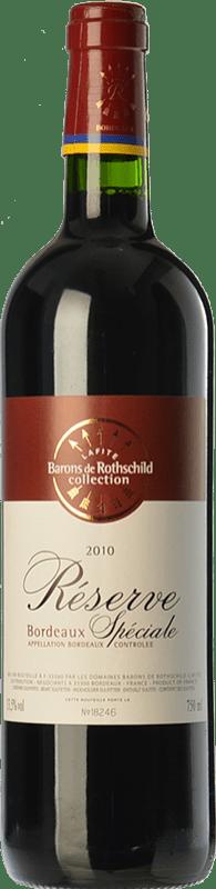6,95 € Envío gratis | Vino tinto Barons de Rothschild Collection Réserve Spéciale Reserva A.O.C. Bordeaux Burdeos Francia Merlot, Cabernet Sauvignon Botella 75 cl