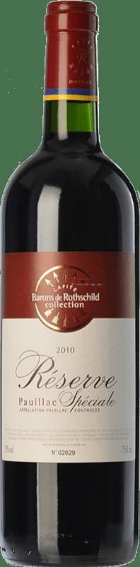 21,95 € Envoi gratuit | Vin rouge Barons de Rothschild Collection Réserve Spéciale Reserva A.O.C. Pauillac Bordeaux France Merlot, Cabernet Sauvignon Bouteille 75 cl