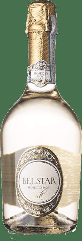 9,95 € Free Shipping | White sparkling Bel Star D.O.C. Prosecco Veneto Italy Chardonnay, Pinot White, Glera, Verdiso Bottle 75 cl