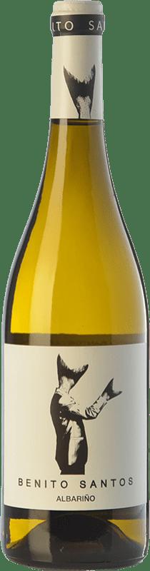 7,95 € Free Shipping | White wine Benito Santos D.O. Rías Baixas Galicia Spain Albariño Bottle 75 cl
