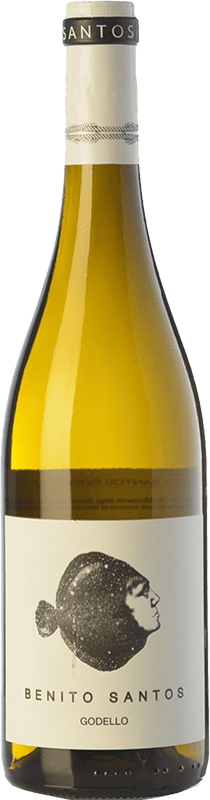 11,95 € Envío gratis | Vino blanco Benito Santos D.O. Monterrei Galicia España Godello Botella 75 cl