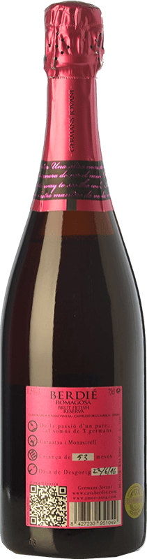 13,95 € Free Shipping   White sparkling Berdié Fetish Brut Reserva D.O. Cava Catalonia Spain Grenache, Monastrell Bottle 75 cl.   Thousands of wine lovers trust us to get the best price guarantee, free shipping always and hassle-free shopping and returns.