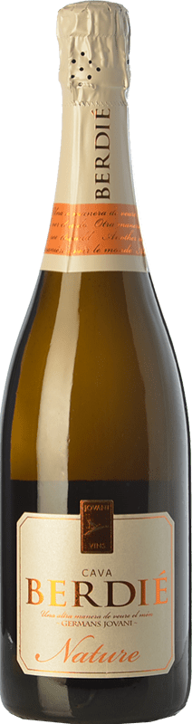 9,95 € Free Shipping | White sparkling Berdié Brut Nature Reserva D.O. Cava Catalonia Spain Macabeo, Xarel·lo, Parellada Bottle 75 cl. | Thousands of wine lovers trust us to get the best price guarantee, free shipping always and hassle-free shopping and returns.