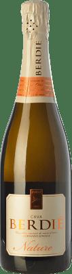9,95 € Kostenloser Versand | Weißer Sekt Berdié Brut Natur Reserva D.O. Cava Katalonien Spanien Macabeo, Xarel·lo, Parellada Flasche 75 cl