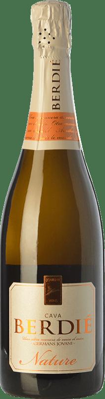 9,95 € Envío gratis | Espumoso blanco Berdié Brut Nature Reserva D.O. Cava Cataluña España Macabeo, Xarel·lo, Parellada Botella 75 cl