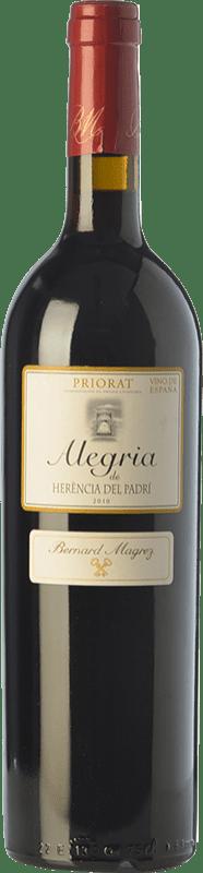 25,95 € Free Shipping | Red wine Bernard Magrez Alegria de Herència del Padrí Crianza D.O.Ca. Priorat Catalonia Spain Merlot, Syrah, Grenache, Cabernet Sauvignon, Carignan Bottle 75 cl