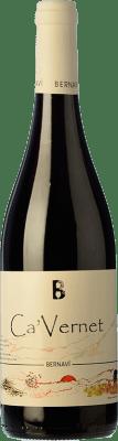 14,95 € Free Shipping | Red wine Bernaví Ca'Vernet Joven D.O. Terra Alta Catalonia Spain Cabernet Sauvignon, Cabernet Franc Bottle 75 cl