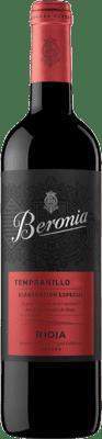 13,95 € Kostenloser Versand | Rotwein Beronia Producción Especial Joven D.O.Ca. Rioja La Rioja Spanien Tempranillo Flasche 75 cl