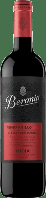 13,95 € Envío gratis | Vino tinto Beronia Producción Especial Joven D.O.Ca. Rioja La Rioja España Tempranillo Botella 75 cl