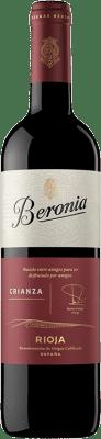 6,95 € Kostenloser Versand | Rotwein Beronia Crianza D.O.Ca. Rioja La Rioja Spanien Tempranillo, Grenache, Graciano Flasche 75 cl