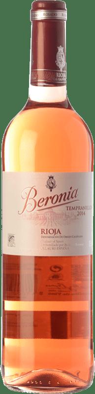 7,95 € Envío gratis | Vino rosado Beronia D.O.Ca. Rioja La Rioja España Tempranillo Botella 75 cl