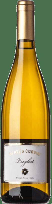 12,95 € Free Shipping | White wine Bertè & Cordini Lughet D.O.C. Oltrepò Pavese Lombardia Italy Chardonnay Bottle 75 cl
