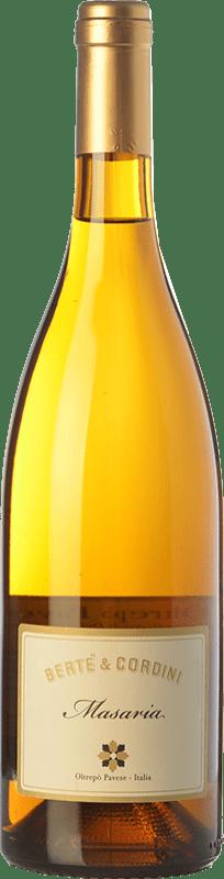 9,95 € Free Shipping | White wine Bertè & Cordini Masaria D.O.C. Oltrepò Pavese Lombardia Italy Sauvignon White Bottle 75 cl