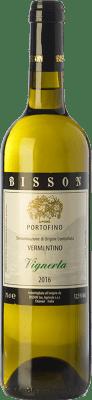 12,95 € Free Shipping | White wine Bisson Vignerta I.G.T. Portofino Liguria Italy Vermentino Bottle 75 cl