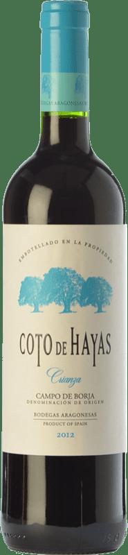 5,95 € Free Shipping | Red wine Bodegas Aragonesas Coto de Hayas Crianza D.O. Campo de Borja Aragon Spain Tempranillo, Grenache Bottle 75 cl