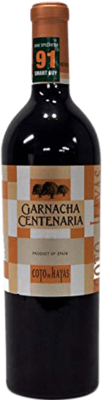 12,95 € Free Shipping | Red wine Bodegas Aragonesas Coto de Hayas Centenaria Joven D.O. Campo de Borja Aragon Spain Grenache Bottle 75 cl