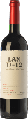 14,95 € Free Shipping | Red wine Lan D-12 Crianza D.O.Ca. Rioja The Rioja Spain Tempranillo Bottle 75 cl