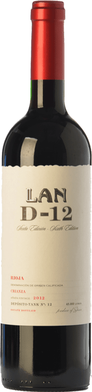 12,95 € Free Shipping | Red wine Lan D-12 Crianza D.O.Ca. Rioja The Rioja Spain Tempranillo Bottle 75 cl