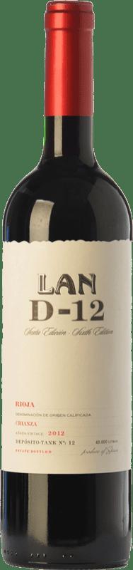 12,95 € Envío gratis | Vino tinto Lan D-12 Crianza D.O.Ca. Rioja La Rioja España Tempranillo Botella 75 cl