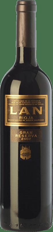 19,95 € Envío gratis | Vino tinto Lan Gran Reserva D.O.Ca. Rioja La Rioja España Tempranillo, Mazuelo Botella 75 cl