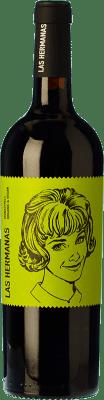6,95 € Kostenloser Versand | Rotwein Luzón Las Hermanas Organic Joven D.O. Jumilla Kastilien-La Mancha Spanien Monastrell Flasche 75 cl